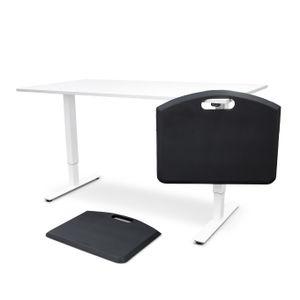 Pieni Sähköpöytä  2-jalalla Ecoline harmaa, kansi 110x65cm tai 120x60cm. Koottuna ja perilletuotuna!