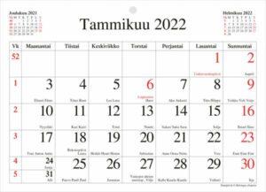 Seinäkalenteri Kuukausilehtiö, 2022 (210x152mm)