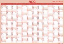 Taulukkokalenteri Visio Projekti 2022