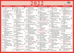 Taulukkokalenteri Visio Suuri 2022 (490x350mm)